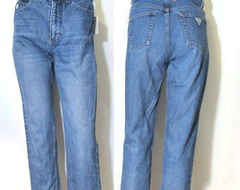 80s,90s Guess 28 / 4 / High Waist, 80s, 90s /Short Cropped Mom Jeans,