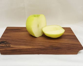 "Small Wood Cutting Board, Bar Board, Cheese Board, Walnut 8.5""x 5"""