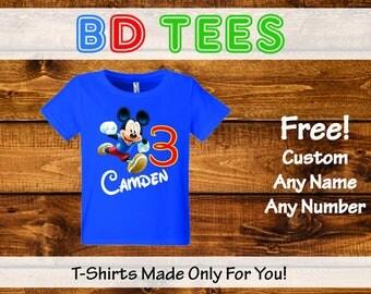Sale! Mickey Mouse Birthday Shirts Set