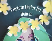 Custom Portrait Order for Duncan // Cut Paper Art Gift