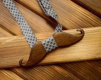 Mustache bow tie Wood bow tie Wedding Bow Tie Wood anniversary gift Brother gift Boyfriend gift Groomsmen gift Wooden bowtie Bowtie men