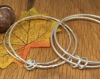 Small double bangles, Child's silver bangles, pretty bangles, girls silver bangles, Christening Bangle, small bangles, small silver bangle