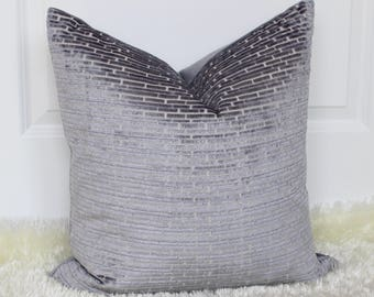 Grey Blue Slate Decorative Throw Pillow with soft insert, Accent Pillow, Couch, Sofa Cushion, Throw Pillow, Velvet, Suede!