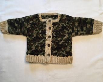 Handmade Baby Camouflage Sweater