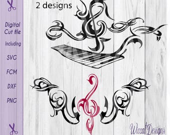 Piano tribal, musical notes, Music notes, Music svg, treble clef svg, shirt svg Piano svg, men shirt svg, dxf cut file, svg men, cricut