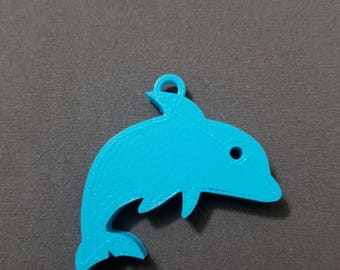 Dolphin Keychain, Vacation, Tropical, 3D Print, Printed Keychain, Gift for anyone, Gift for everyone, Ocean, Custom Keychain