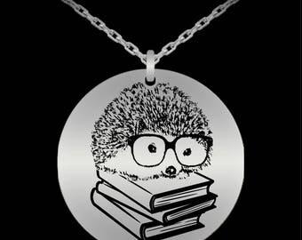 Hedgehog Necklace, Silver Hedgehog, Hedgehog Jewelry, Hedgehog Gift, Hedgehog Charm, Hedgehog Pendant, Tiny Hedgehog, Hedgehog, Cute, Funny