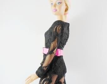 Beautiful Barbie Clothes, Handmade jumpsuits, Classic black color for barbie