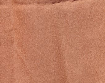 Brown textured acetate fabric, 1 and a third yards, 34 width, 1970s