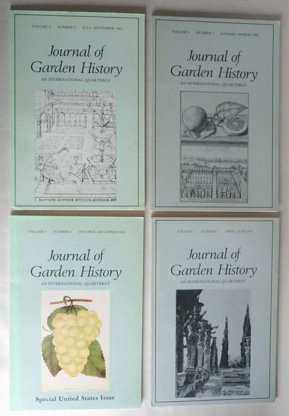 Journal of Garden History: An International Quarterly Volume 2, 1982, Full Year - 4 issues