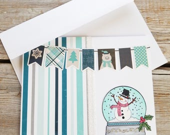Cute Christmas Cards - Snowman Card - Cute Snowman Card - Christmas Cards - Christmas Card Snowman - Winter Cards - Cute Holiday Card