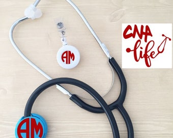 Student Nurse Gift - Nurse Appreciation Gift - CNA Life Decal - Nurse's Graduation Gift - Nurse Monogram Combo Set - Nursing Student Gift