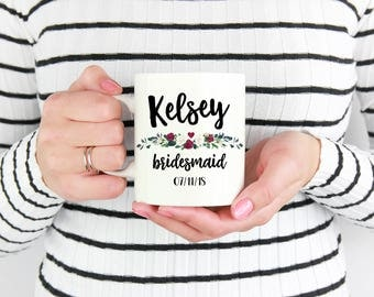 Custom Bridesmaid Mugs, Bridal Party Mugs, Custom Bridal Party Mugs, Custom Bridal Party Cups, Custom Wedding Party Cups, Bridesmaid Cups