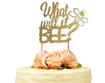 What Will It Bee Cake Topper Gender Reveal Baby Shower