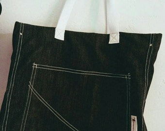 jeans fabric handbag