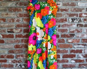 Vintage Hawaiian Multi-Colored Floral Muumuu