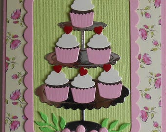 Cupcakes Birthday Celebration Note or Greeting Card