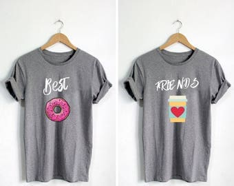 Matching shirts, Bff shirt, best friends shirt, donut shirt, funny donut shirt, donut care, blonde best friend, adult best friend, duo shirt