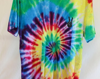 Adult Size lg - Ready To Ship - Unisex - Festival - Tie Dyed - T-shirt - 100% Cotton - FREE SHIPPING within Aus