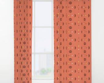 Mid century curtains | Etsy