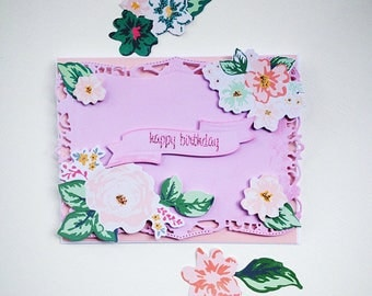 Layered card, birthday card, beautiful happy birthday cards, decoupage card, 3d cards, birthday card, cards paper crafts, greeting cards