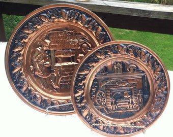 Pair of Coppercraft Guild Plates Tauntan, MA