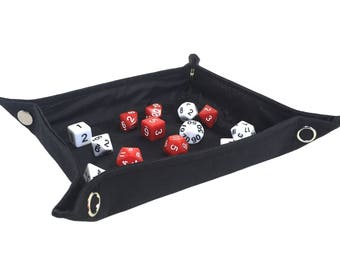 Black Collapsible Dice Tray