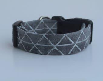 Bamboo Triangles Dog Collar