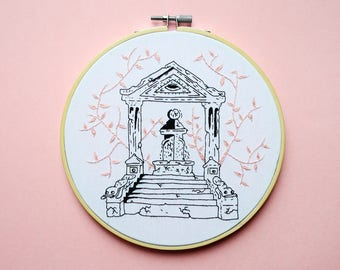 Decorative embroidery - Temple