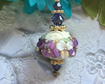 Lampwork Pendant, Lampwork Pendant/Necklace, Lampwork Jewelry, Lampwork Pendant, SRA Lampwork Jewelry