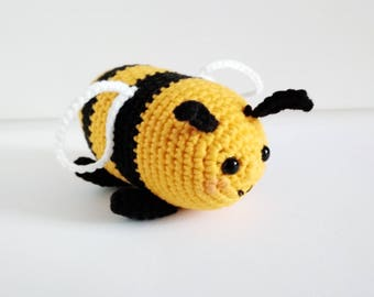 Bumble Bee Plush Gift For Kids Waldorf Toddler Toy Honey Baby Shower Save The Bees