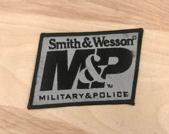SMITH & WESSON PATCH - M and P / Military and Police  / Guns / Firearms / 2nd Amendment