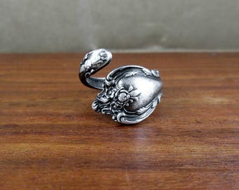 Antique Sterling Spoon Ring – Size 8.75
