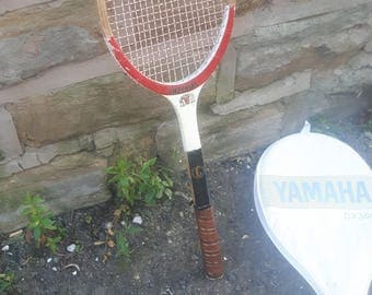 Vintage / Retro Wooden Imperial Tennis Racket Rackett with Cover