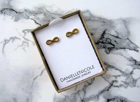 Infinity Sign Earrings, Dainty Earrings, Simple Earrings, Stud Earrings, Dainty Jewelry, Everyday Jewelry, Simple Jewelry, Boho Jewelry