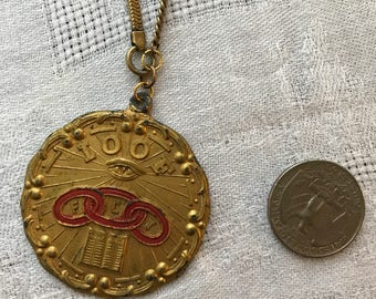 Odd Fellows Jewelry | IOOF Jewelry | Victorian Necklace | Enamel Necklace | Antique Necklace | Vintage Necklace | Watch Chain Necklace