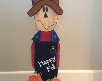 Primitive Wood Scarecrow
