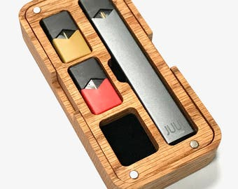JUUL Vape Wood / HD plastic Travel case
