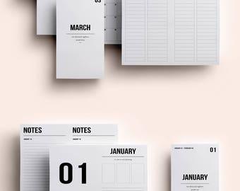 Personal TN Insert   Personal TN Printable   Personal TN Printable Inserts   Personal Insert January - March 2018