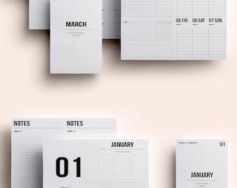 Cahier TN Insert | Cahier TN Printable | Cahier TN Printable Insert | Cahier Insert - January - March 2018