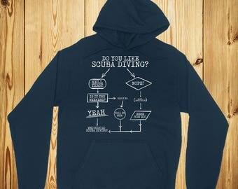 Scuba Diving Hoodie, Scuba Hooded Sweatshirt, Scuba Diver Gift,Scuba Diving,Scuba Diver,Scuba Diving Gift,Gift For Scuba Diver,Diving Hoodie