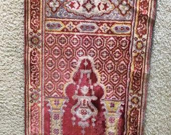 Vintage prayer rug