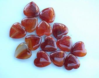 Carnelian Crystal Heart Gemstone