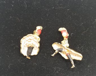 Fun & Definitely Unique!  Petite Pair of Can-Can Dancer Pins