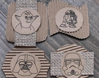 Star Wars Embellishments, Rustic Scrapbooking Embellishments