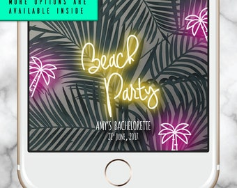 Palm Tree Snapchat Filter * Beach Party Geofilter Neon Birthday filter 30th Birthday Filter Snapchat Filter Fiesta Tropical Snap Geofilter