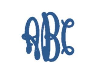 Oval Monogram Font PES