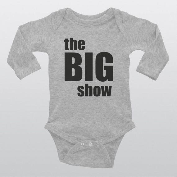 Babies 100% Cotton Bodysuit | 3 Colors | THE BIG SHOW
