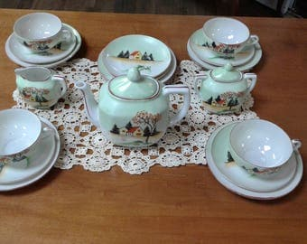 Vintage Children's Tea Party Set-Porcelain