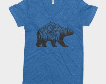 National Park Bear Adventure Bella Canvas Women's Triblend Tshirt